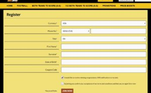 Betyetu registration form